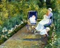 'Children in garden' by Mary Casssatt