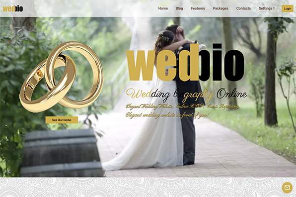 Screenshot of Wedbio.com
