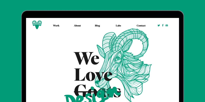 Capra Design website design
