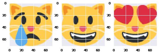 Cat face emoji cluster