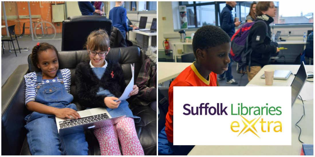 Suffolk Libraries Extra logo