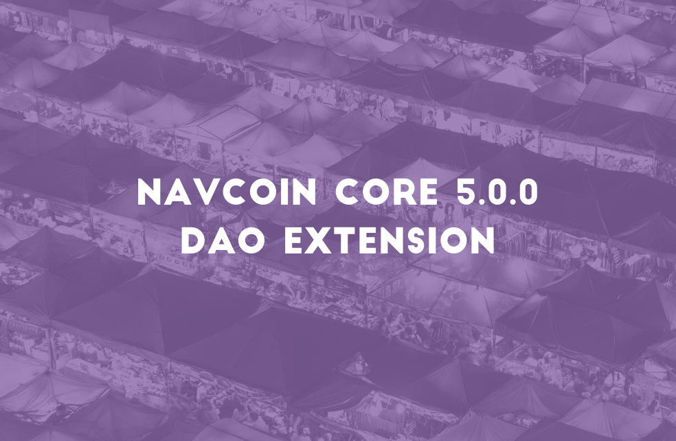 NavCoin Core 5.0.0 - DAO Extension