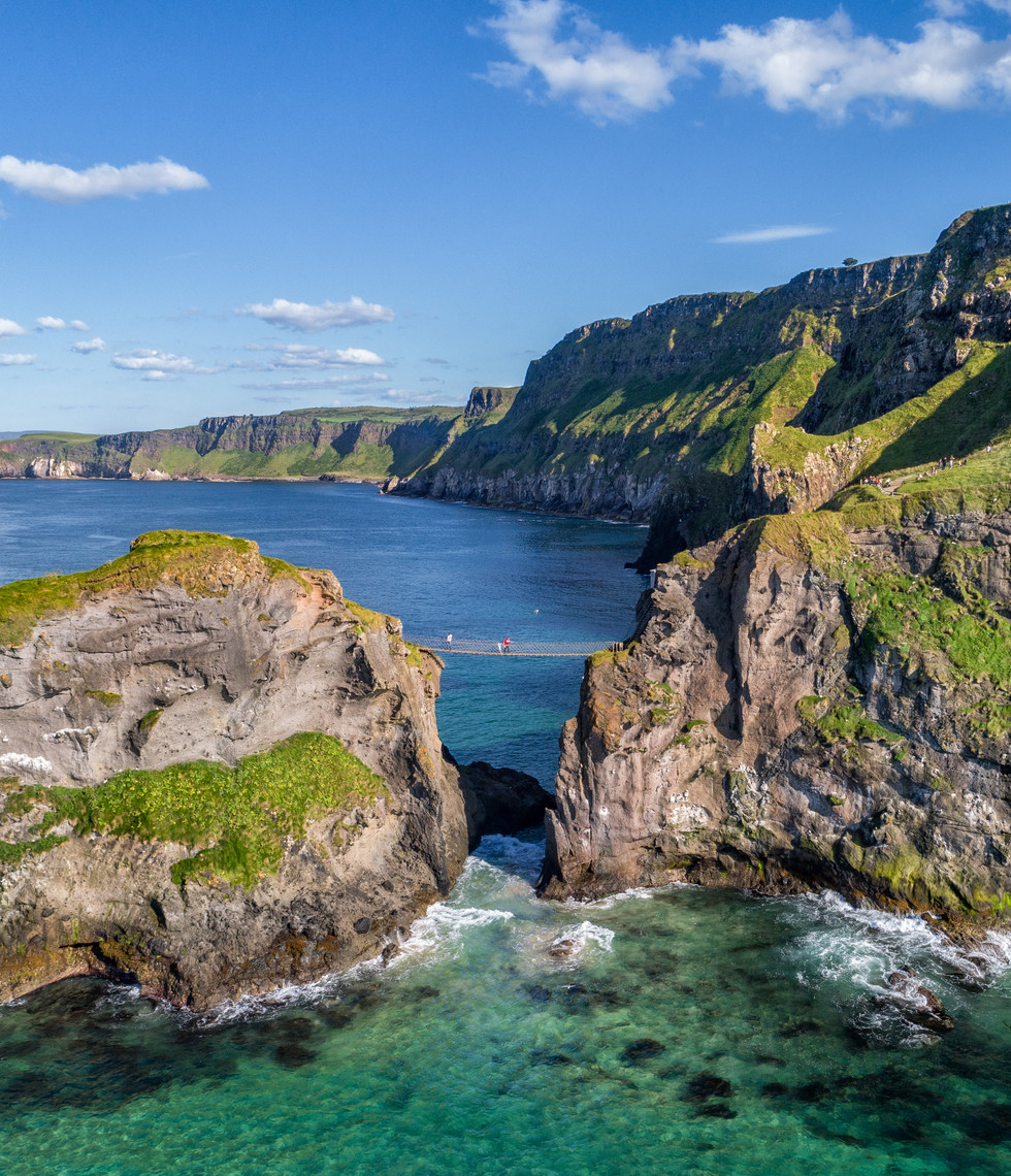 Stunning views over the Carrick-a-Rede Rope Bridge