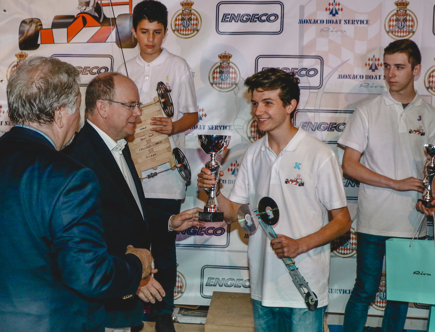a photo of me being awarded by the Prince of Monaco
