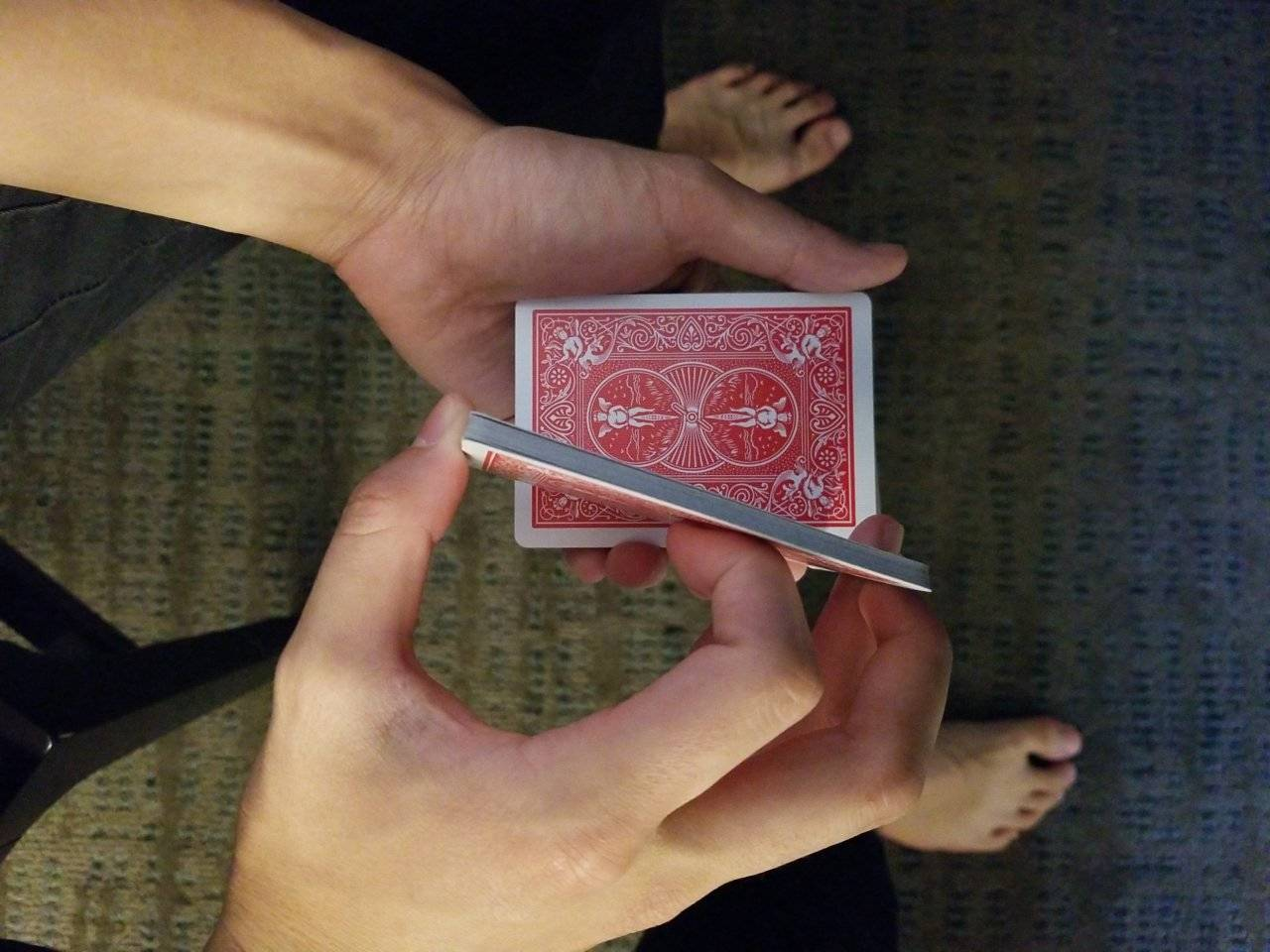 cards being cut in half