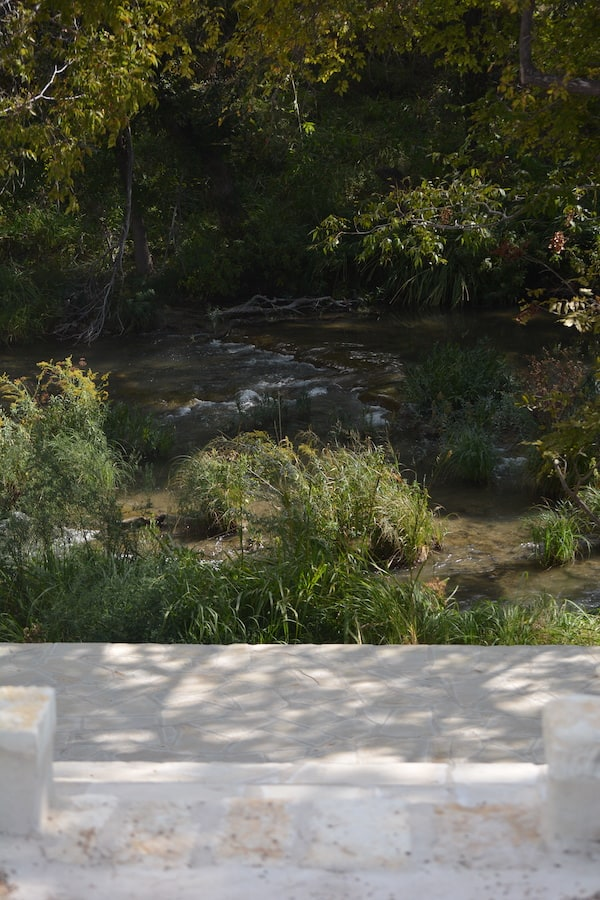 Straight on look of the concho river wedding venue