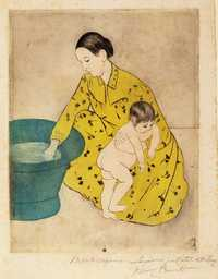 'The Bath', printed by Mary Cassatt, 1890-1891