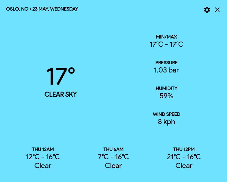 Weatherion screenshot