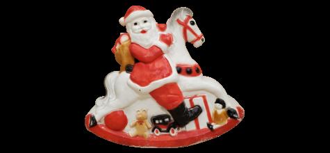 Santa on Rocking Horse photo