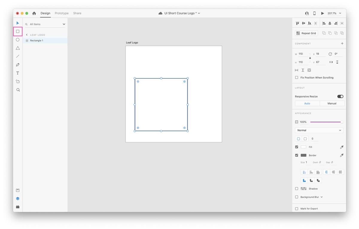 Adjusting artboard dimensions in Adobe XD