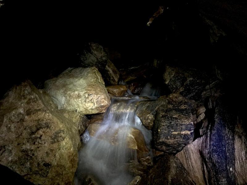Lots of flowing water