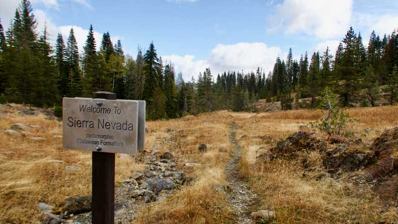 Crossing the northern boundary of the Sierra Nevada