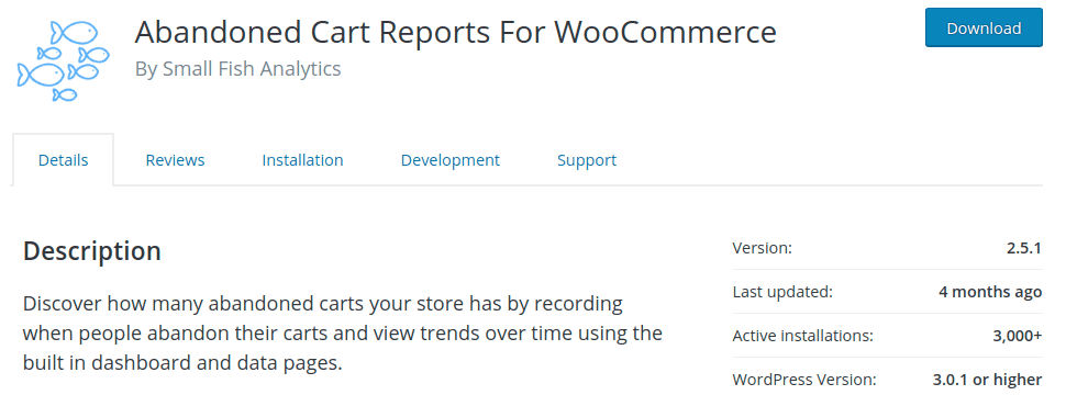 Abandoned cart reports for WooCommerce