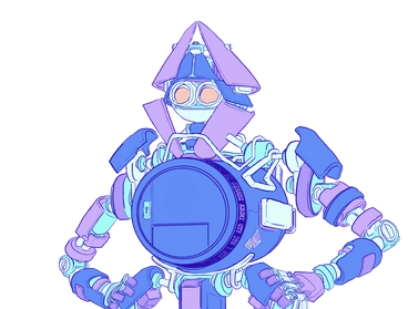 An illustration of a robot with a safe for a torso, used to represent Ethereum wallets