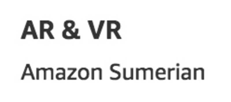 AR & VR services as listed on aws.amazon.com