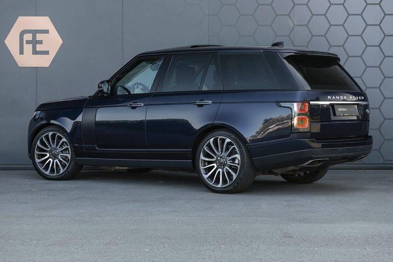 Land Rover Range Rover 5.0 V8 SC Autobiography Portofino Blue + Verwarmde, Gekoelde voorstoelen met Massage Functie + Adaptive Cruise Control + Head Up afbeelding 4