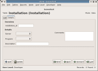 Glom screenshot: details mode after changing field formatting