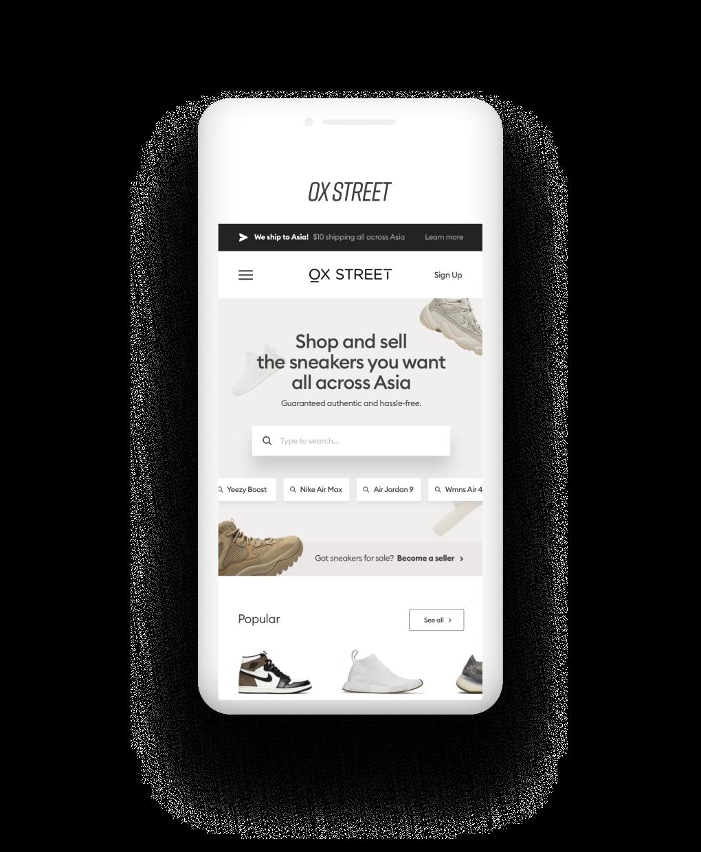 Phone with Ox street app
