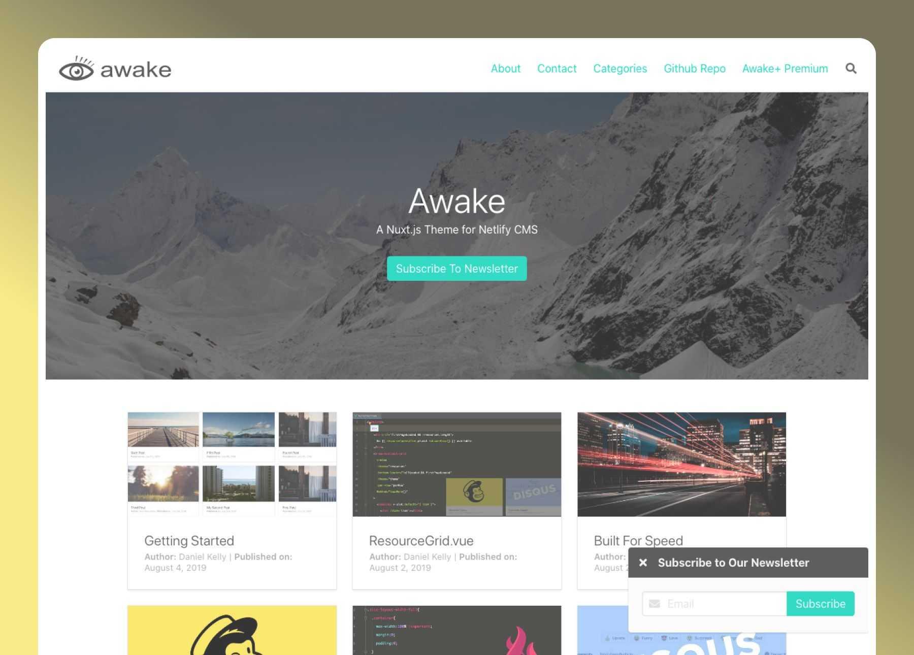 Awake Nuxt Blog- cover