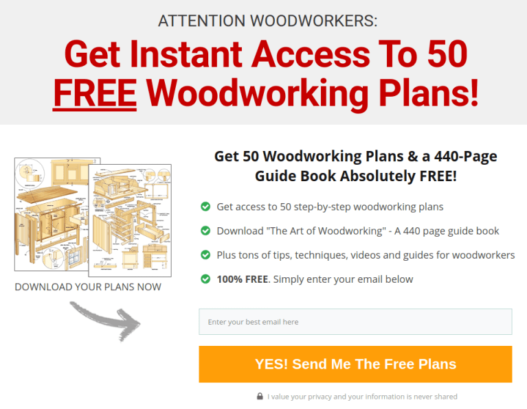 Example Opt-In Page: WoodWorking