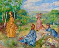 Renoir's Jeunes filles jouant au volant was sold by Christie's New York for $11.36 million in May 2014