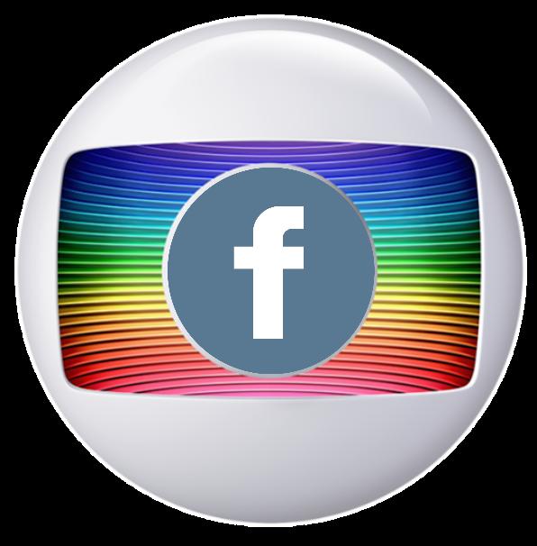 uma edição boba da logo da globo com a do facebook