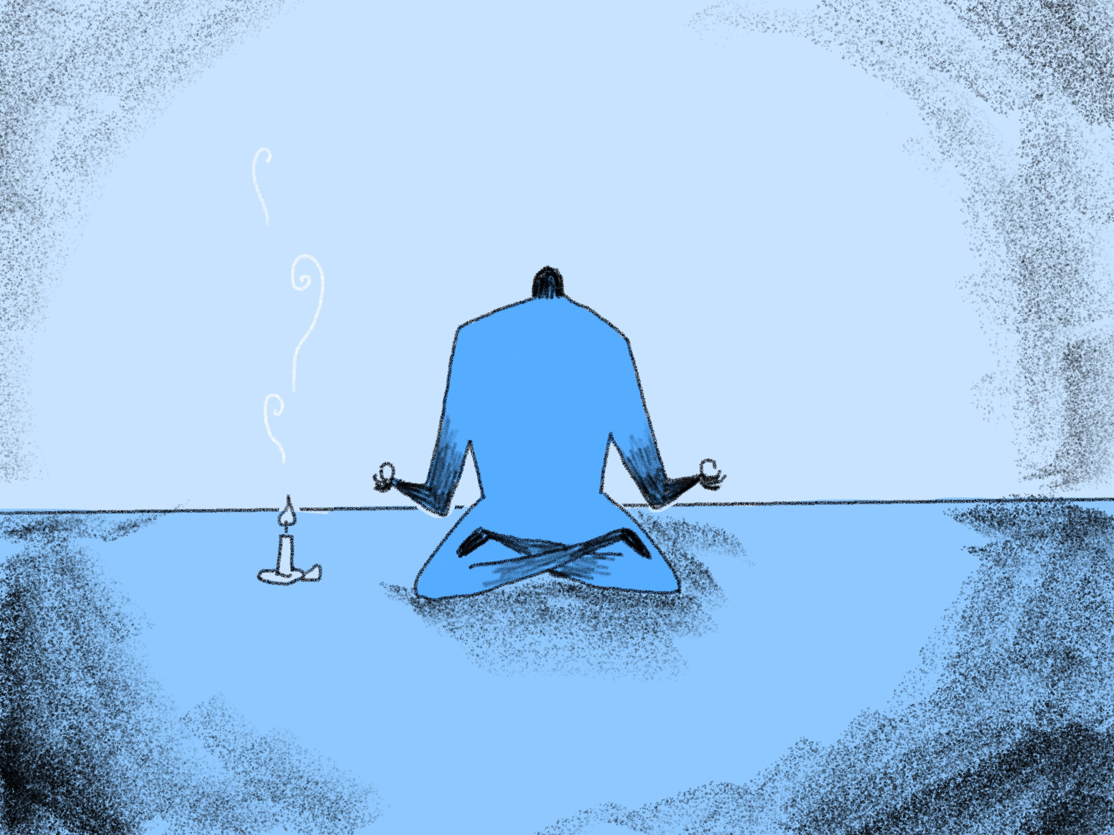 illustration of a person meditating peacefully