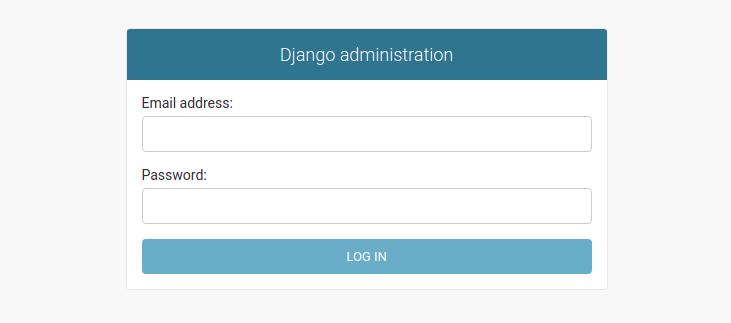 Django admin with email as username