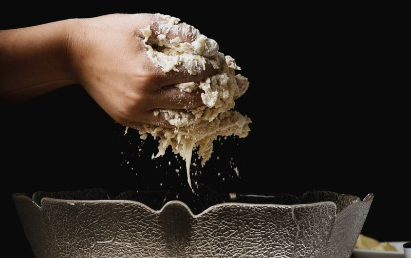 shaping dough by hand