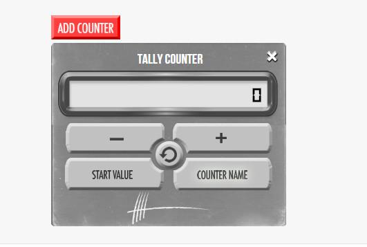 scrrenshot of Tally Counter