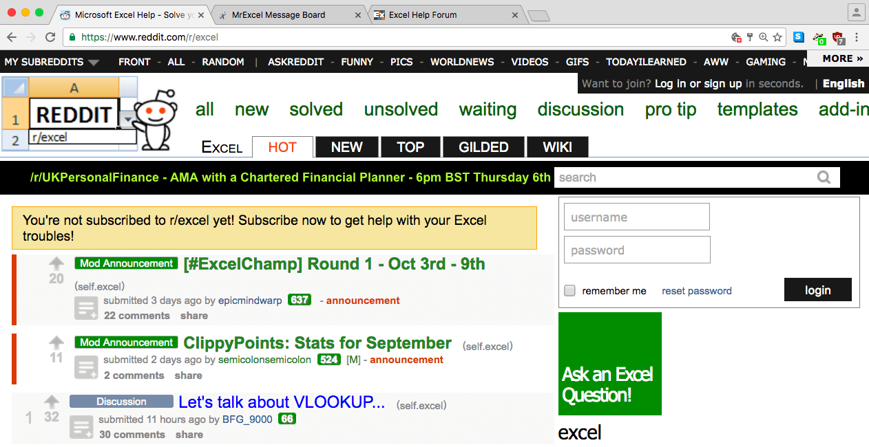 Excel: The Best Forums to Ask Questions