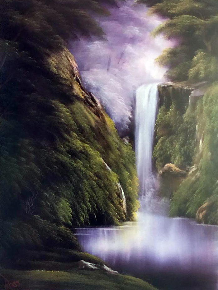 Waterfall in the Woods workshop preview painting