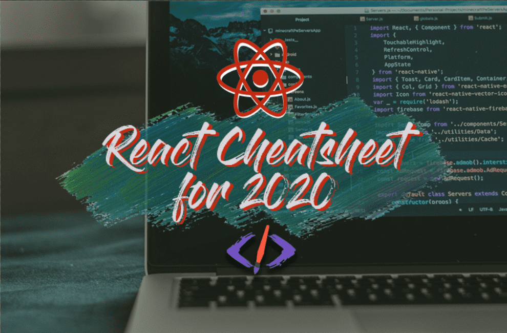 The React Cheatsheet for 2020 📄‬ (+ real-world examples) cover image