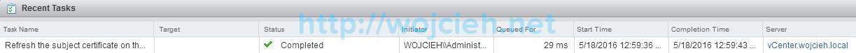 Renew ESXi SSL certificates in vSphere Web Client - 5