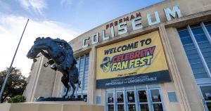 Celebrity Fan Fest Banner outside the Freeman Coliseum