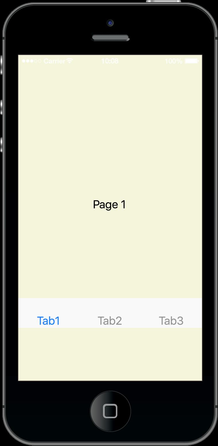 Corona SDK 的 TabBar 範例