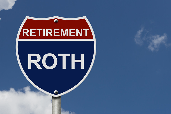 Roth IRA on a road sign