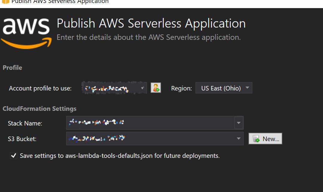 AWS Publish option 1