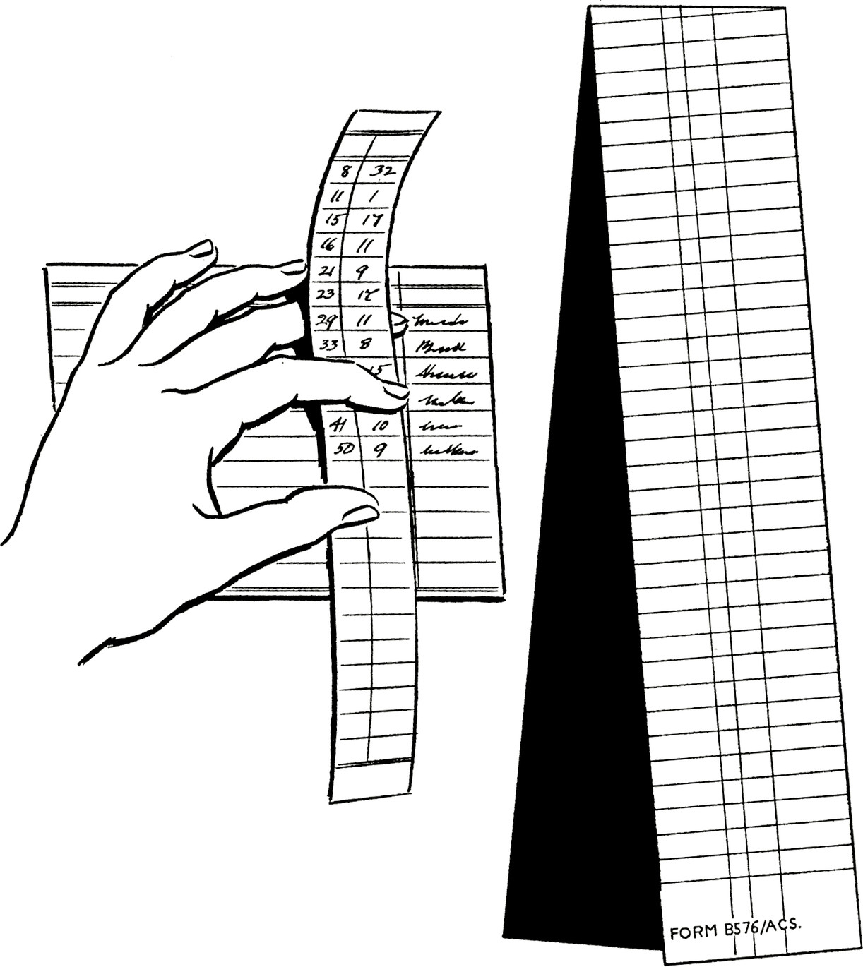 The carbon-coated posting strip provides a simple and inexpensive proof sheet for control purposes. Individual entries on the posting strip and separate accounting records are made in one writing operation. The totals on the posting strip provide control figures to prove posting both the correct amount and the correct account