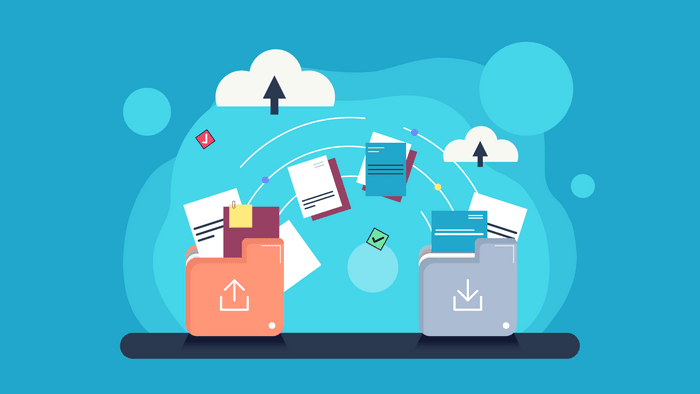 Illustration of digital files and folders