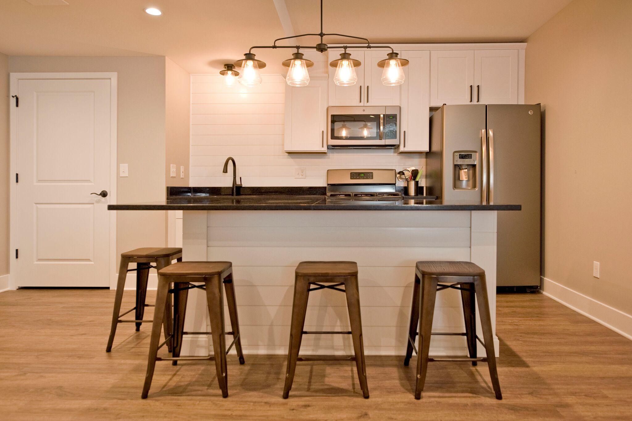 Full Basement Kitchen with Bar
