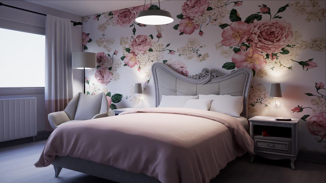 Interactive bedroom visualisation in VR