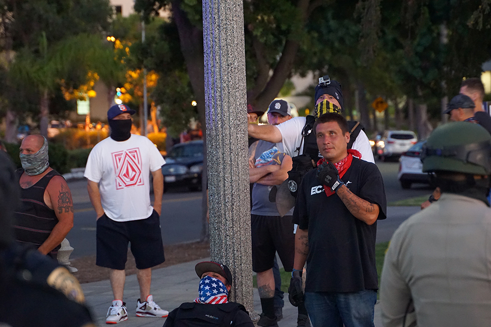 Some members of DEC remained until 9pm to heckle protestors. Photo by Tom Mann.