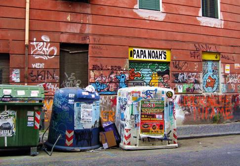Graffiti near where we were staying in Rome
