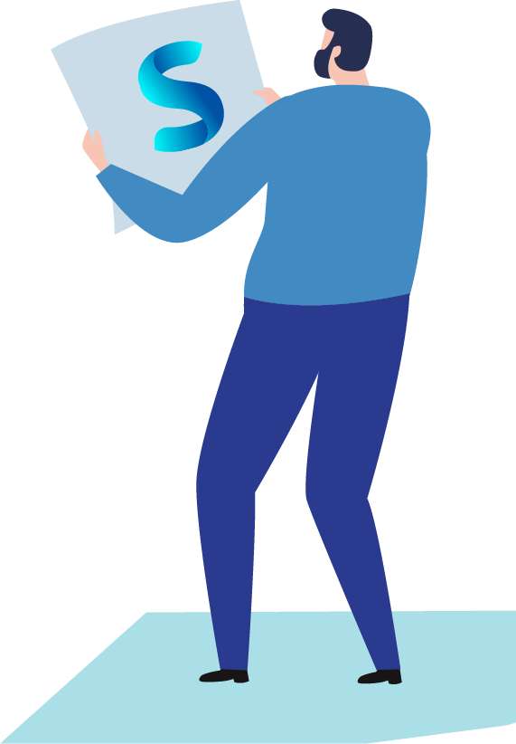 guy holding a paper with SharePlace logo