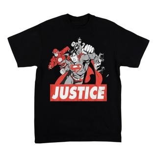 DC Comics Justice League Black & White T-Shirt