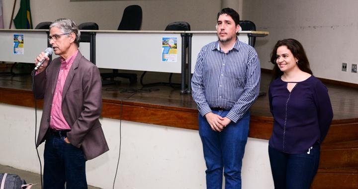 Na imagem o Secretário da SEMDU Sr. Antônio Marcus Machado e os diretores do consórcio MYR LOCALE, Paulo Rogério Monteiro e Marina Guimarães Paes de Barros