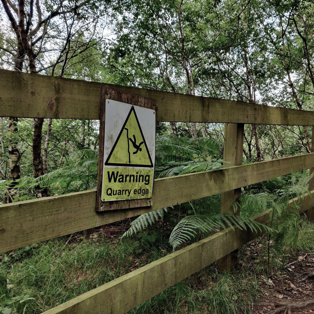 Calverley Wood Warning Sign