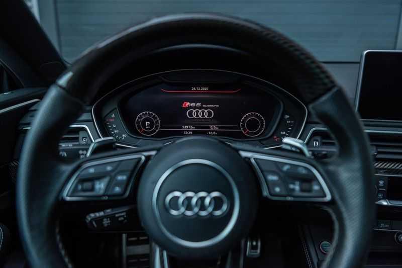 Audi RS5 Coupé 2.9 TFSI Quattro Pro Line Plus, 520 PK/JD, Full Capristo-R, Full Carbon, 20'' BBS Wheels, Pano/Dak, 52DKM!! afbeelding 18