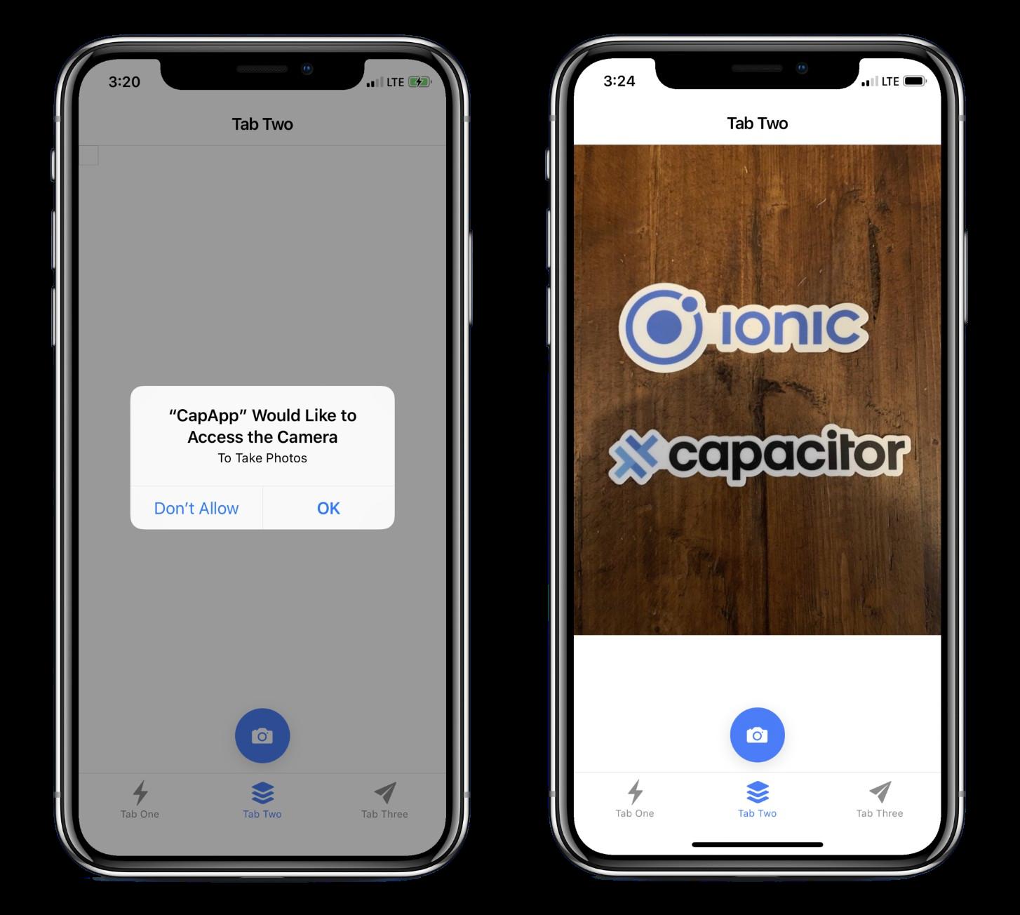 iOS Camera permissions